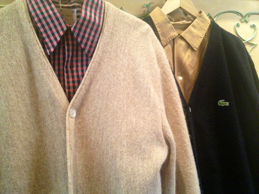 We have a small but choice selection of vintage shirts & cardigans.