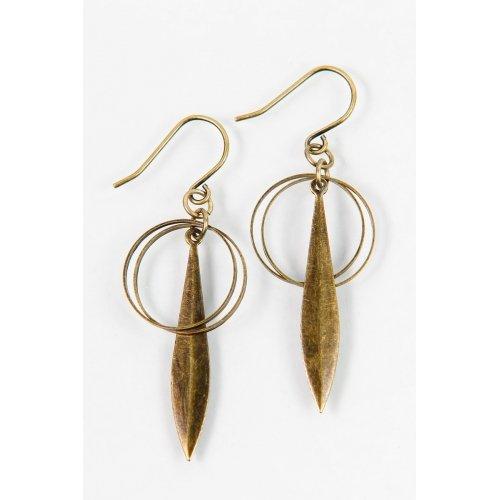 Circle Sky- Owlfeather Earrings
