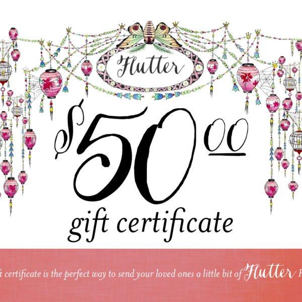 Flutter Gift Certificate
