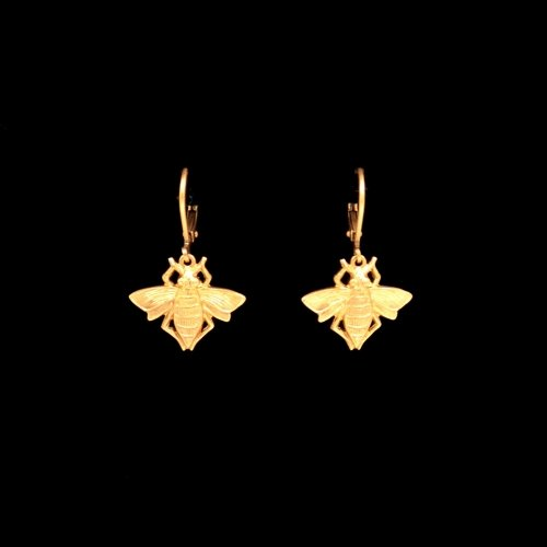 Golden Bee Earrings