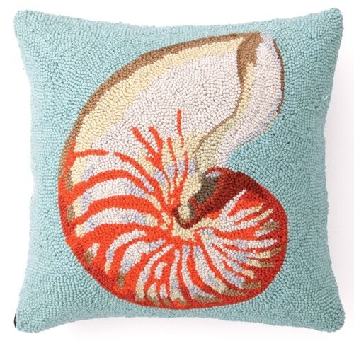 Nautilus Shell Pillow