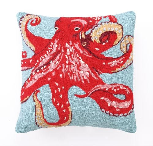 Red & Orange Octopus Hook Pillow Red & Orange Octopus Hook Pillow